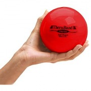 TheraBand Soft Weight Hand Held Ball Shaped Isotonic Weight for Strength Training & Rehab Exercises Pilates Yoga & Toning Workouts Home Exercise Equipment Balls 4.5 Diameter Red 3.3 Pounds