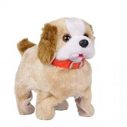 Flabo Soft Toy Fantastic Puppy Battery Operated Back Flip Jumping Dog Jump Run Toy Kid
