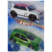 Hot Wheels Detailed Diecast Vw Golf gTi - Mini Cooper S 1/64 Scale