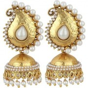 Jewels Gold Party Wear Fashion Designer Unique Traditional Jhumki Earring Set For Women Girls