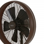 Breeze pedestal fan 122 cm, round base, bronze