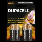 Baterii alcaline AA R6 Duracell Basic 1 5 V blister 4 baterii