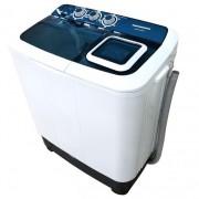 Masina de spalat rufe semiautomata Heinner HSWM-AD65BL, 6.5 Kg, 4.6 Kg, Alb/Albastru