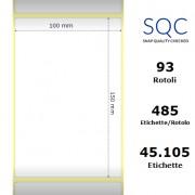 Etichette SQC - Carta termica protetta (bobina), formato 100 x 150