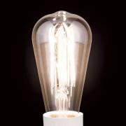 LED rustic bulb E27 7 W, warm white, dimmable