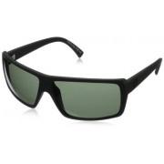 Veezee, Inc. - Dba Von Zipper VonZipper Snark Rectangular Sunglasses,Black Satin,One Size