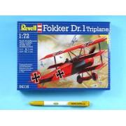 """Modelul de avion ModelKit 04116 - """"Fokker DR. 1 Triplane (1:72)"""