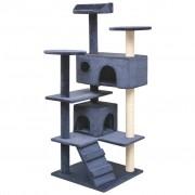 vidaXL Árvore p/ gatos c/ postes arranhadores sisal 125 cm azul escuro