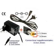 Adaptateur secteur disque dur 12 Volts 3A avec un connecteur 3.5x1.5mm