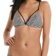 Sunseeker Abstract Stripe Triangle Top Bikini Sunseeker