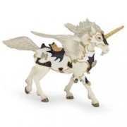Figurina Papo- Pegasus unicorn alb-negru