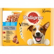 PEDIGREE hrana za pse adult, piletina i govedina 4x100g 520029