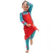 LissomPlume Unisex Kids Art Smock Children Painting Bib Apron Craft Wear Kit with 2 Roomy Pockets for Kitchen Classroom