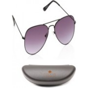 Roccia Indiano Aviator Sunglasses(Grey, Blue)
