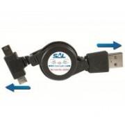 SAL töltőkábel, mini-micro USB 0,7 m (SA 051)
