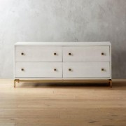 Ivory Shagreen Embossed Low Dresser by CB2