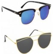 Elgator Over-sized Sunglasses(Blue, Black)