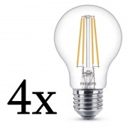 Philips Pack 4x Lâmpada LED 7W E27 Branco Quente