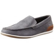 Clarks Men's Medly Sun Grey Leather Boat Shoes - 9 UK/India43 EU