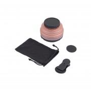 ER 0.6x Lente De Gran Angular + Ganchos De Metal Macro Teléfono Móvil-Oro Rosa