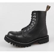 stivali in pelle donna - STEEL - 114/113 - Black