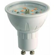 Led spot GU10, 4W, 390 lumen, 2700 kelvin, meleg fehér, nem vibrál, a garancia 3 év!