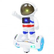 Oksale Electronic Swing Dancing Robot Smart Space Robot Astronaut Kids Music Light Toys For Kid Gift (White)