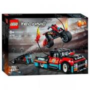 Lego 42106 Lego Technic Truck en Motor voor Stuntshow