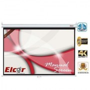 ELCOR Wall type Pull down screens 5ft x 7ft with 100 Diagonal In HD 3D 4K Technology