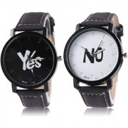 R P S fashion new collation Yes / No wards model combo pack of 2 men watch