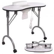 Hordozható manikűr asztal ajándék táskával, ventilátoros