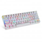 MOTOSPEED CK62 Keyboard Wired Bluetooth/USB Keyboard Dual Mode Mechanical Keyboard with RGB Backlight - White