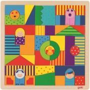 Puzzle cu ferma 43 piese, Goki, Lemn, 3 ani+