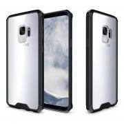 Funda Case Para Samsung S9 (No Plus) Protector Transparente De Acrílico Con Bordes De Plastico TPU - Negro