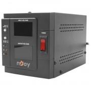 AVR nJoy Akin 1000, 1000VA/800W, cu releu, LCD Display, functie de intarziere la pornire, functie de selectie a tensiunii, PWAV-10001AK-AZ01B (NJOY)