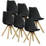 """[en.casa] 6 ks sada židlí HTMS-2851 """"Annika"""""""