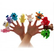 10 pcs Baby Animal Finger Puppets Tell Story Early Educational Hand Training Animal Family