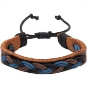 Dare by Voylla Braided Boho Brown Leather Bracelet from Cool Stacked