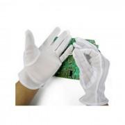 Luvas Antiestáticas ESD para Reparação de Circuito Impresso (Tamanho S) Brancas