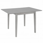 vidaXL Разтегателна трапезна маса, сива, (80-120)x80x74 см, МДФ