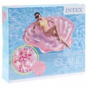 Saltea gonflabila Pink Seashell Intex 178 x 165 x 24 cm scoica
