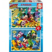 Educa 2 Puzzles - Mickey & the Roadster Racers 20 Teile Puzzle Educa-17631