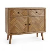 Oak Furnitureland Brushed and Glazed Solid Oak Sideboards - Small Sideboard - Parquet Range - Oak Furnitureland