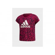 adidas t-shirt must haves graphic - Power Berry / Black / White, Power Berry / Black / White - 128