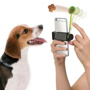 Yani Creative Design Dog Food Launcher Smart Phone Handle Feeding Device Attract Pet's Attention Tool for Taking Photo
