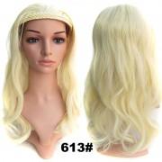 Poloparuka - 3/4 paruka s čelenkou z pletených vlasů (613 (beach blond)) - Světové Zboží