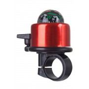 Mountain Warehouse Bicycle Bell with Compass - Red Uniwersalny