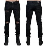 Uomo i pantaloni (jeans) WORNSTAR - Rampager Shredded - Nero - WSP-RPKSH
