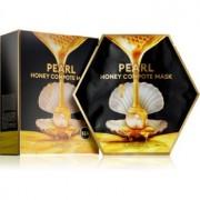 Missha Honey Compote Mask Pearl Máscara de tejido para iluminar y dar vitalidad a la piel 5 uds 5 ud