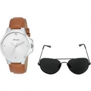 Arum Stylish Brown Trendy Watch ABLWSG-005